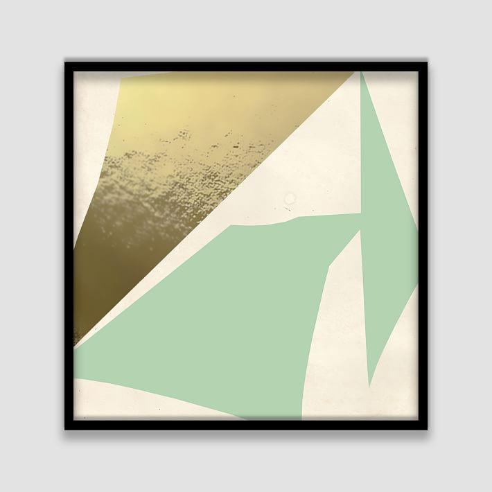The Arts Capsule Mint Gold Foil Sheets Framed Print