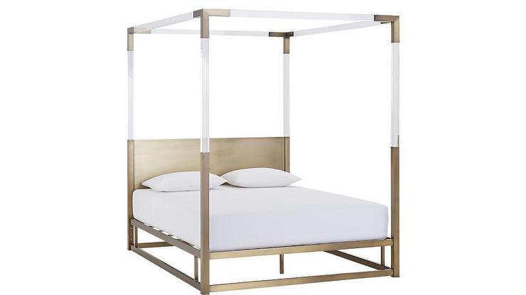 Black Frame Canopy Bed