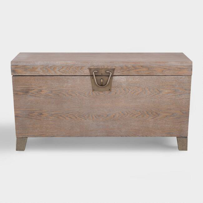 Tyson Wood Storage Trunk Coffee Table