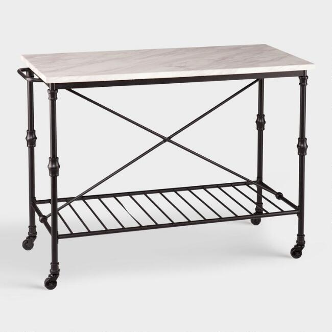 Urban Metal Kitchen Cart: Black Caleb Coffee Bar