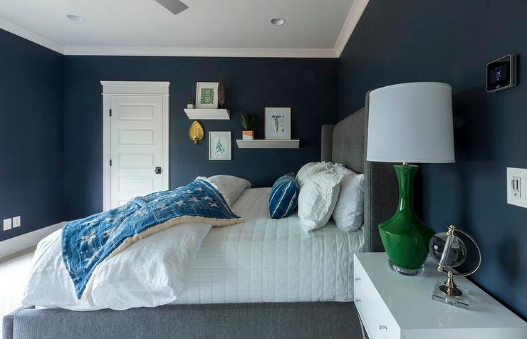 Modern Boys Bedroom With Two Tone Bunk Beds And Blue