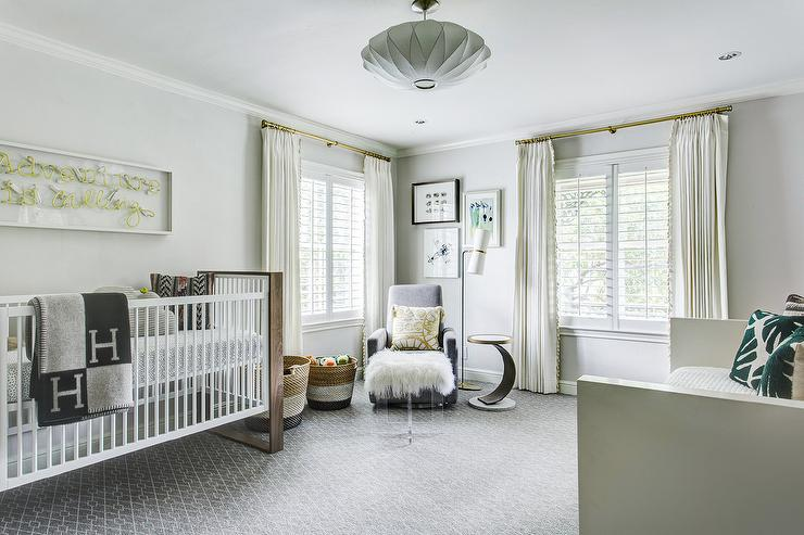 Astonishing White And Gray Boys Nursery With Hermes Blanket Andrewgaddart Wooden Chair Designs For Living Room Andrewgaddartcom