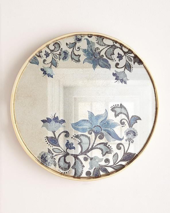 large decorative plates for the wall.htm opalhouse round gold decorative leaf wall mirror  gold decorative leaf wall mirror