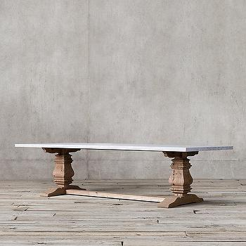 Trestle Salvaged Wood Extension Dining Tables