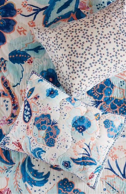 Decorative Toss Pillow Blue Floral Target