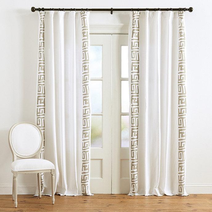 Natural Border Curtain Panel, Panel Curtain Pattern