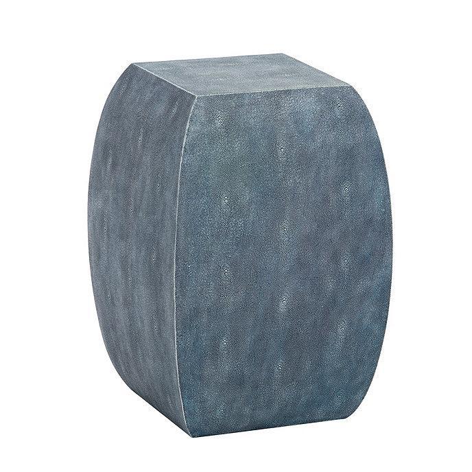 Excellent Faux Shagreen Indigo Garden Stool Inzonedesignstudio Interior Chair Design Inzonedesignstudiocom