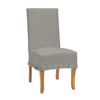 Duck Couture Gray Chair Pleat Slipcover