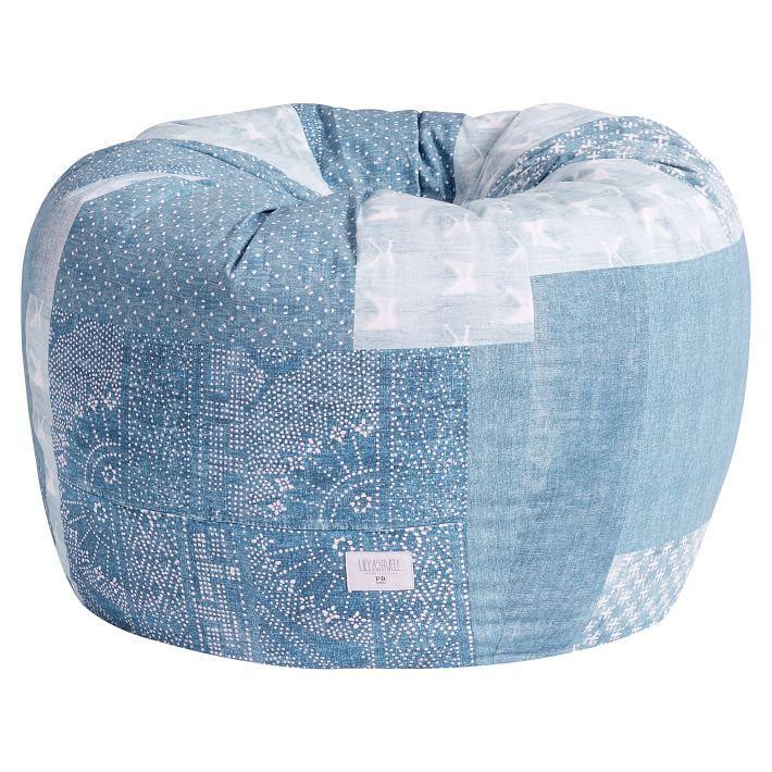 Super Lily Ashwell Jean Patchwork Pattern Beanbag Inzonedesignstudio Interior Chair Design Inzonedesignstudiocom