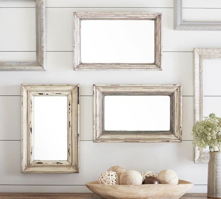 Julia Distressed Blush Weathered Wood Mirrors