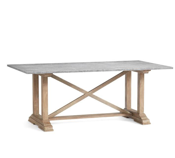 Trestle Espresso Brown Contemporary Dining Table