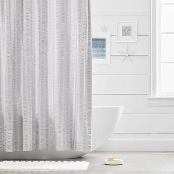 Gray Organic Cotton Shower Curtain