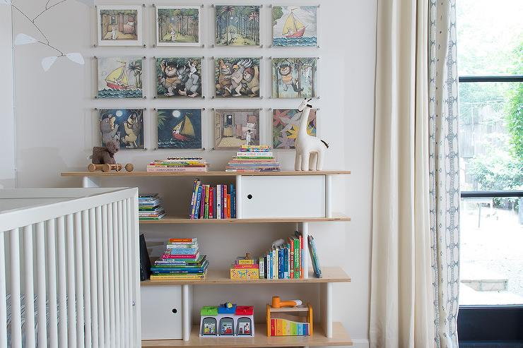 Distressed Tall Utility Bookcase