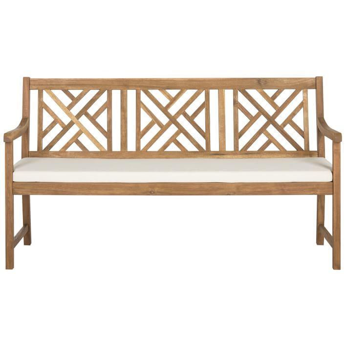 Sensational Crosshatch Back Outdoor 3 Seat Wood Bench Beatyapartments Chair Design Images Beatyapartmentscom