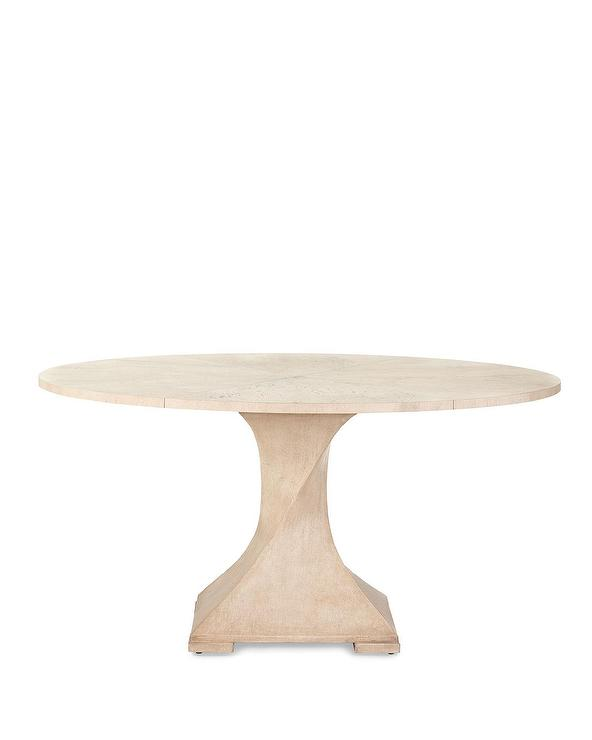 Lavertezzo Round Gray Twisted Pedestal Dining Table - Round pedestal dining table gray