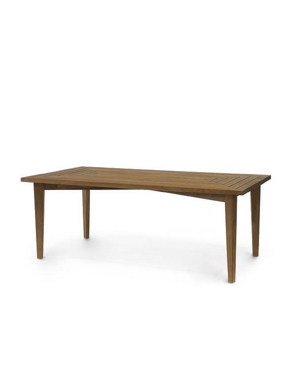 Palecek San Martin Teak Outdoor Dining Table - Best teak outdoor dining table