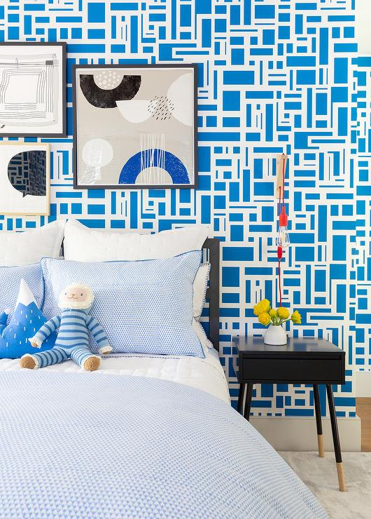 Enjoyable Blue And Black Boys Bedroom Colors Transitional Home Interior And Landscaping Staixmapetitesourisinfo