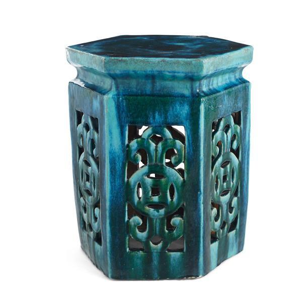 Chinese Ocean Blue Ceramic Cutout, What Are Ceramic Garden Stools Used For
