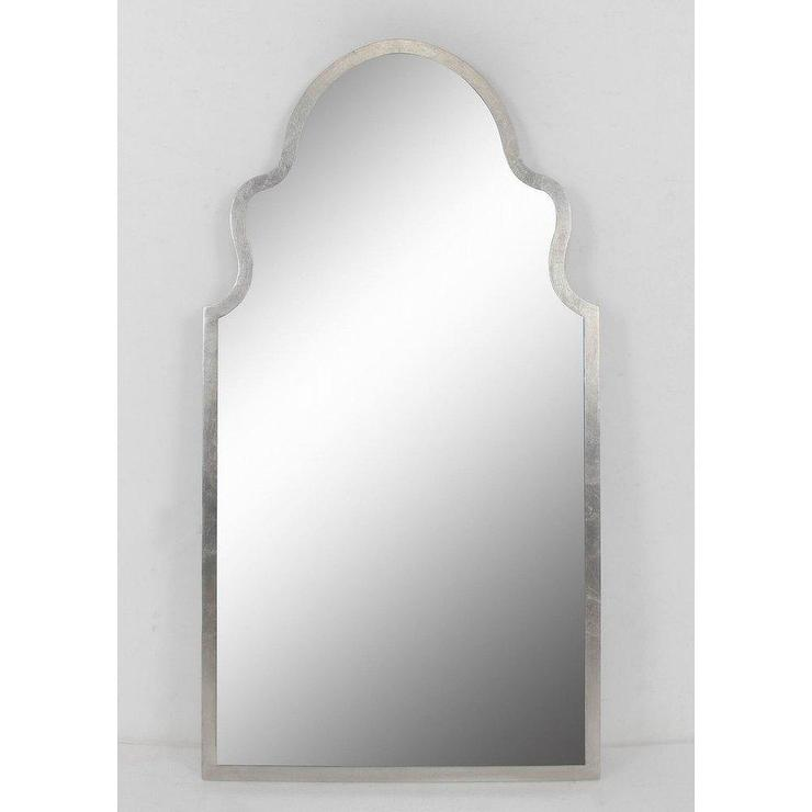 Leighton Curvy Beveled Frameless Wall Mirror