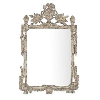 Gold Medallions French Panel Mirror