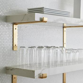 cheap for discount 68065 1a1df Marble And Brass Wall Shelves Design Ideas