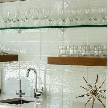 master bedroom with wet bar transitional bedroom shelves over wet bar Floating Shelves