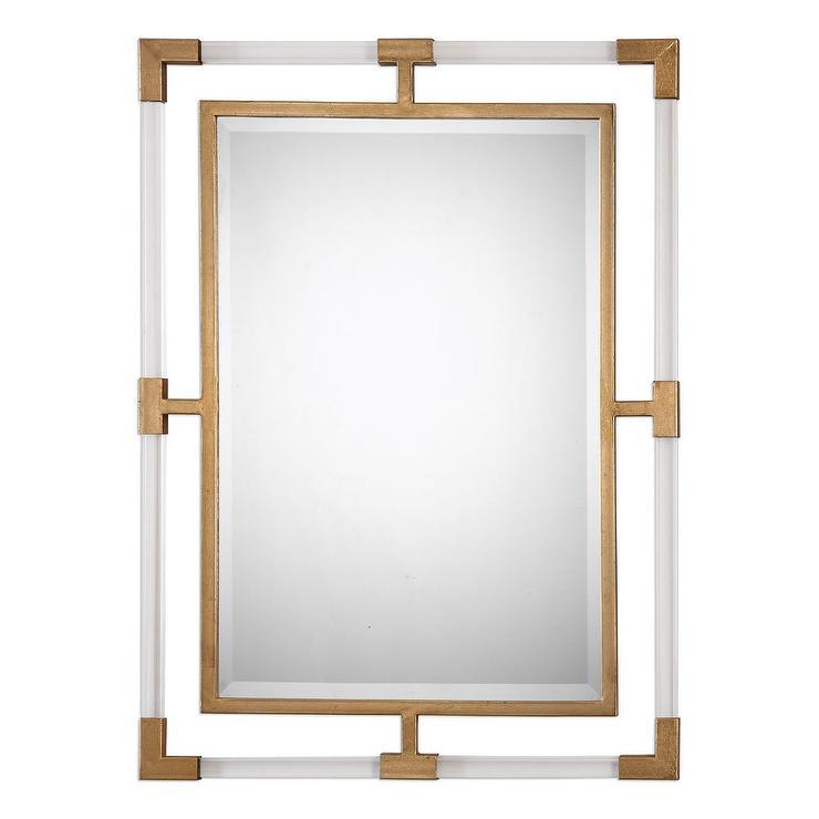 Savoy Acrylic Gold Beveled Mirror
