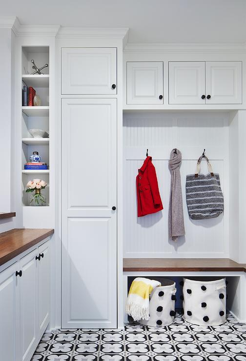 Closet Turned Mudroom Transitional Laundry Room