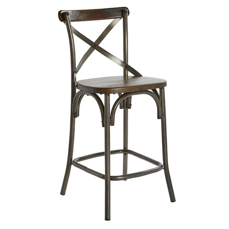 Swell Indio Walnut Wood X Back Counter Stool Dailytribune Chair Design For Home Dailytribuneorg