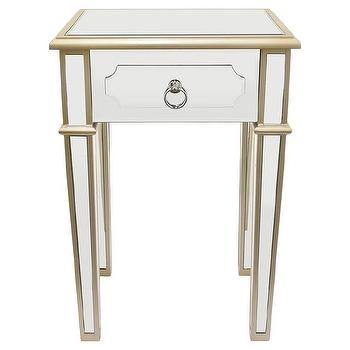 Overmere White Gold End Table