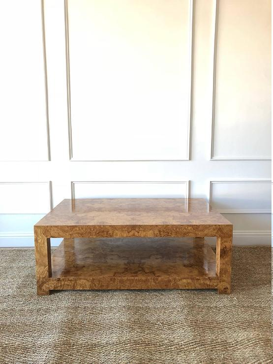 Hanover Burlwood Veneer Square Coffee Table