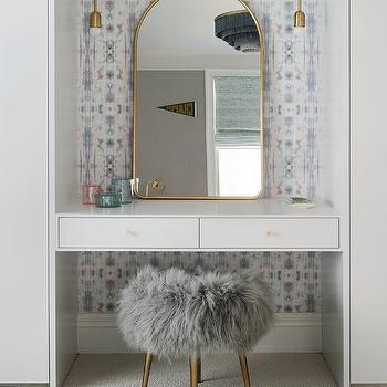 Makeup Vanity.Floating Makeup Vanity Design Ideas