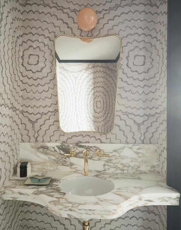Marble Sink Vanity With Rectangular Pivot Mirror