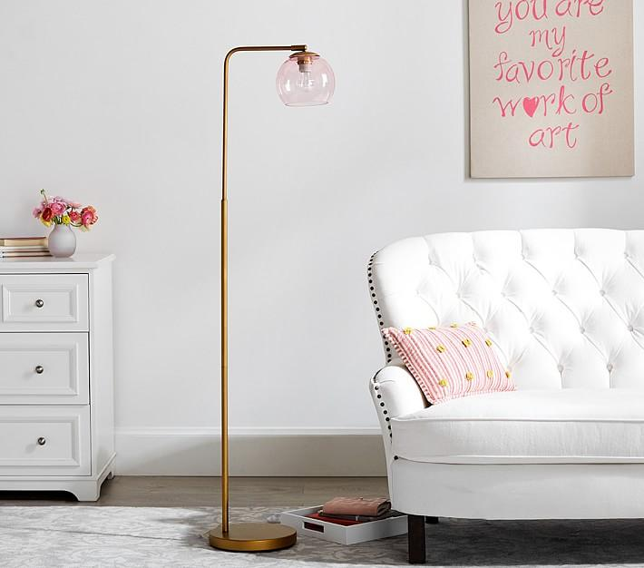Emily Meritt Pink Fringe Table Lamp