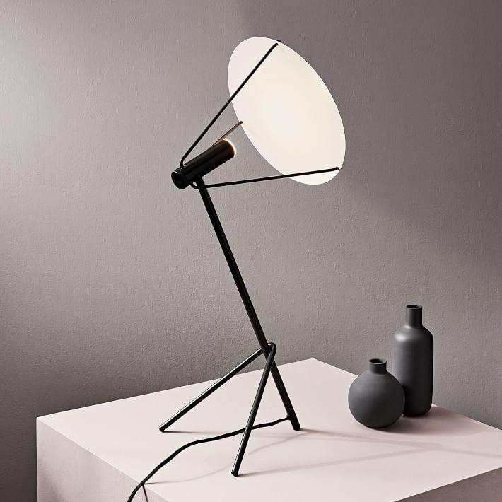 Powell Dark Bronze Metal Led Table Lamp