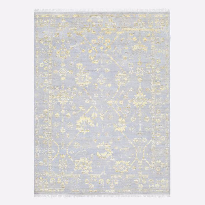 Caroline Hand Tufted Rug In Yellow And Grey