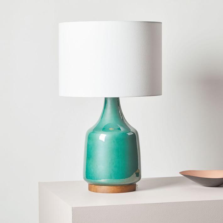 Morten Emerald Green Earthenware Table Lamp