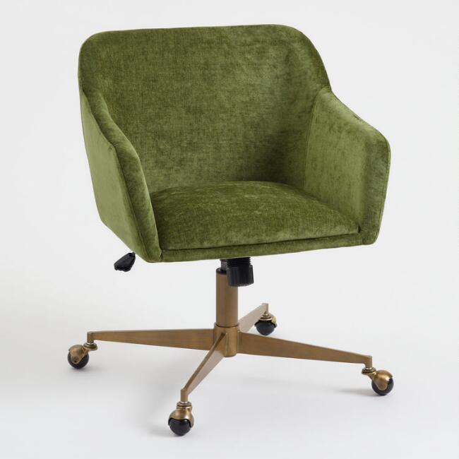 Baxter Green Velvet Chair