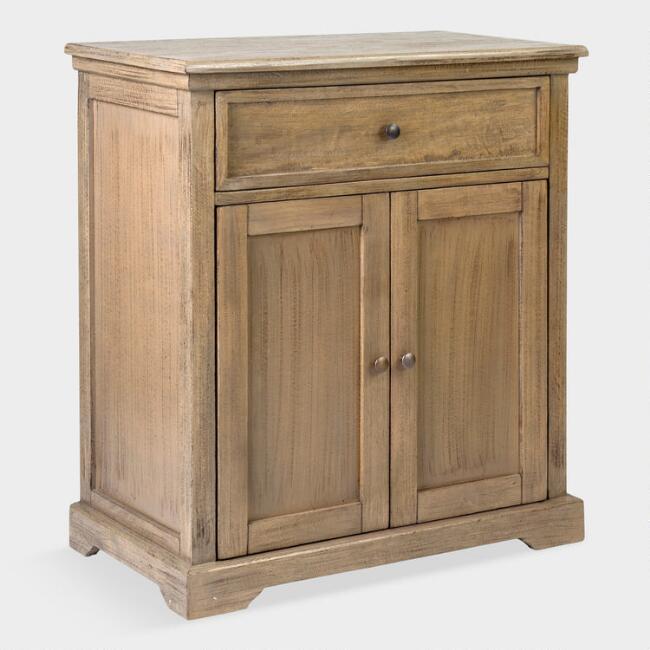 St James Grey Glass 4-Door Cabinet
