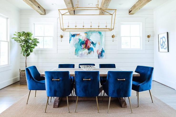 Tray Shiplap Dining Room Ceiling Design Ideas