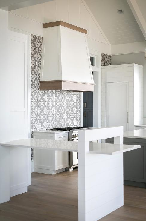 Fleur de Lis Pattern Backsplash Tiles - Transitional - Kitchen