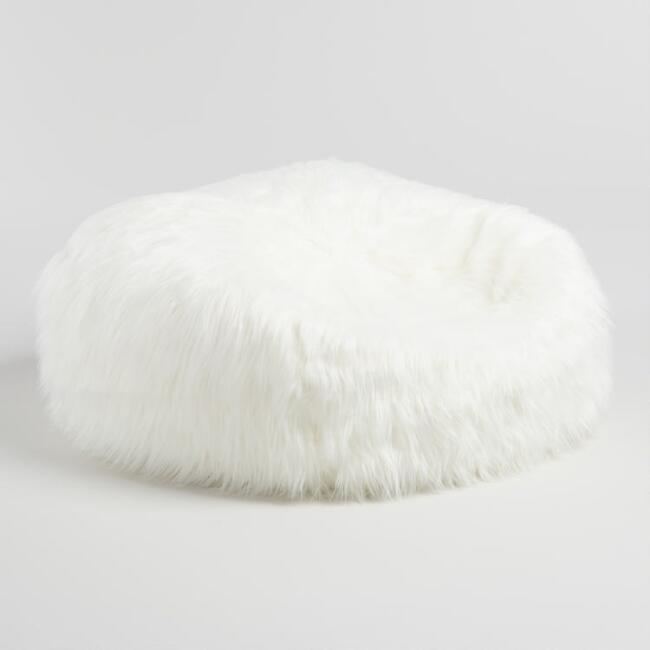 2e26692957 Mongolian Ivory Faux Fur Bean Bag Chair