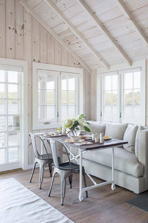 Tremendous Breakfast Nook With Light Gray Sofa Cottage Dining Room Download Free Architecture Designs Salvmadebymaigaardcom