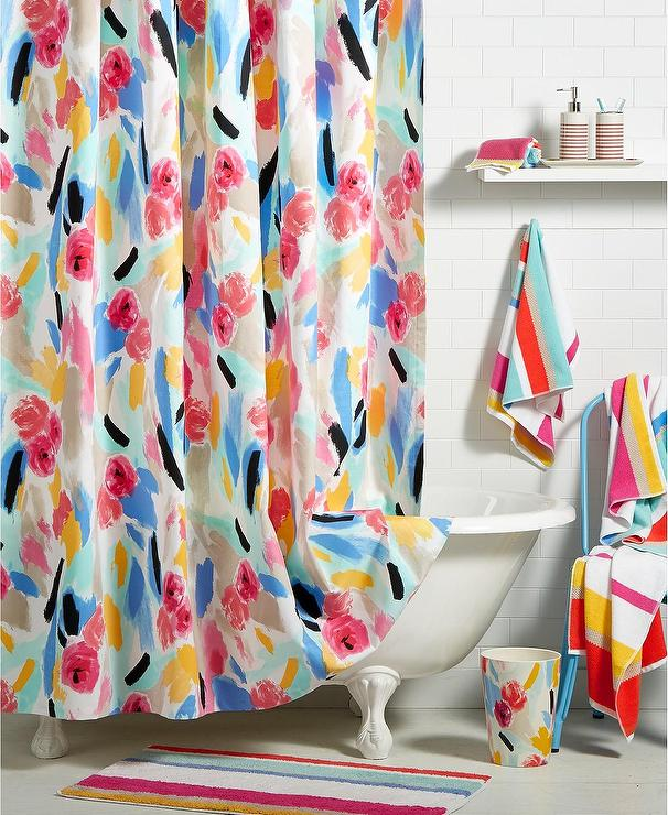 Kate Spade Colored Paintball Floral Bath Collection