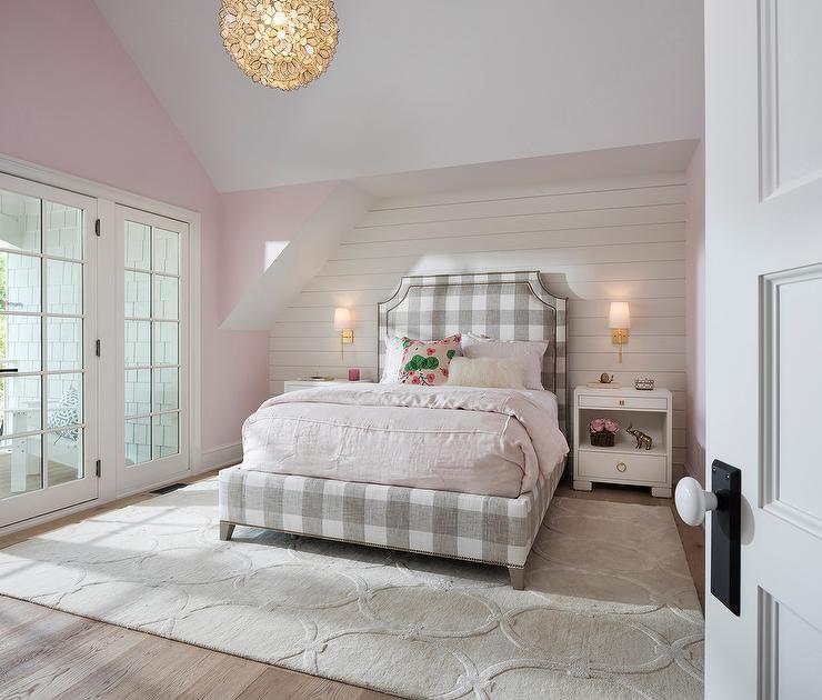 Gray Metallic Girls Bedroom Rug Design Ideas
