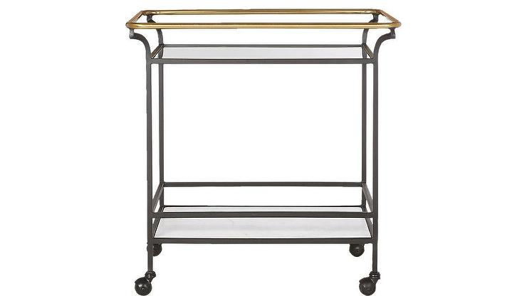 Rickey X Frame Bar Cart
