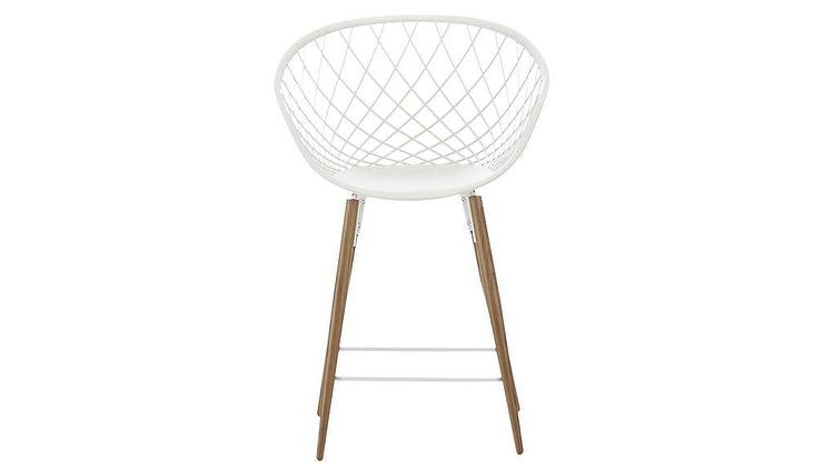 Magnificent Project 62 Copley Plastic White Molded Counter Stool Beatyapartments Chair Design Images Beatyapartmentscom