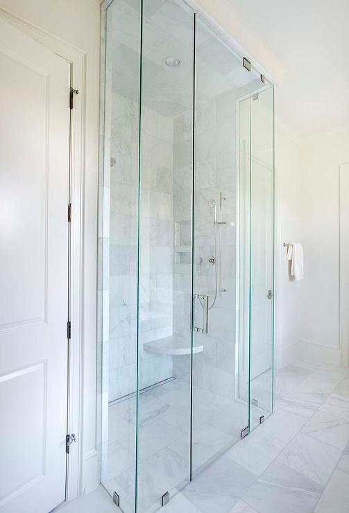 Floor Level Shower Design Transitional Bathroom