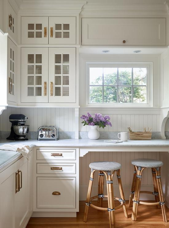 Traditional Pantry With French Bistro Stools Traditional