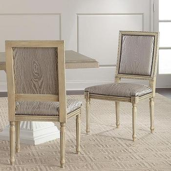 Griffin Cutback Gray Print Dining Chair